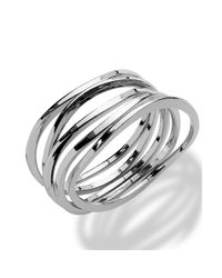 INC International Concepts | Metallic Silvertone Stackable Bangle Bracelets | Lyst