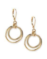 Anne Klein | Metallic Earrings, Gold-tone Orbital Fish Hook Earrings | Lyst