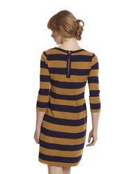 Joules Yellow Daphne Stripe Dress