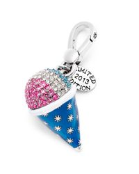 Juicy Couture | Multicolor Silvertone Pave Snowcone Charm | Lyst