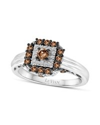 Le Vian - Chocolate Diamond 12 Ct Tw and White Diamond Accent Square Ring - Lyst