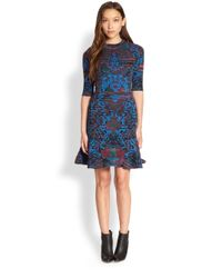 M Missoni Blue Intarsia Dress