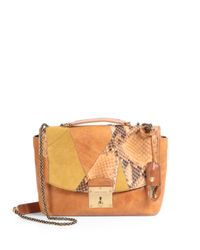 Marc Jacobs Orange Mini Polly Mixedmedia Shoulder Bag