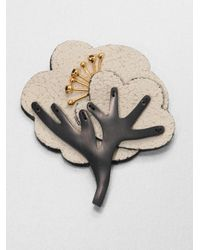 Marni | Natural Leather Resin Tree Brooch | Lyst