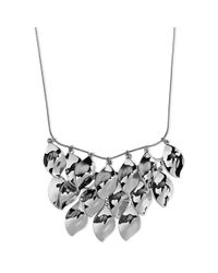 Nine West - Metallic Silvertone Shaky Bib Necklace - Lyst