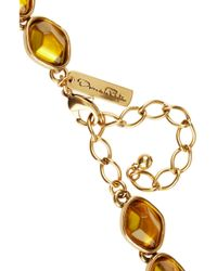 Oscar de la Renta Yellow Goldplated Crystal Necklace