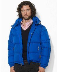 Polo Ralph Lauren Blue Apres Hooded Packable Puffer Jacket for men