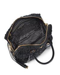 Prada Black Tessuto Gaufre Large Nylon Satchel