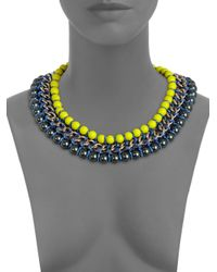 Proenza Schouler | Yellow Neon Bead Chain and Rope Necklace | Lyst