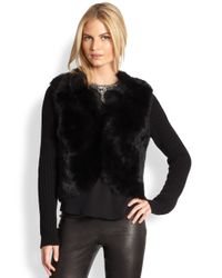 Ralph Lauren Black Label - Black Danella Shearling Jacket - Lyst