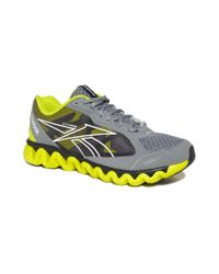 Reebok Gray Ziglite Rush Sneakers for men