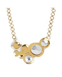 Robert Lee Morris - Metallic Gold Tone Layered Circle Statement Necklace - Lyst