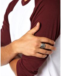 Simon Carter Metallic Anchor Ring for men