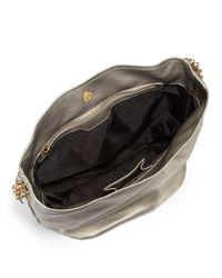 Stella McCartney Medium Metallic Hobo Bag