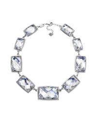 Swarovski | Metallic Rhodium Plated Crystal Diamond Touch Light Nirvana Collar Necklace | Lyst