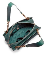 Tory Burch Green Priscilla Calf Hair Shoulder Bag
