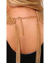 AKIRA - Metallic Multi Function Necklace Set in Gold - Lyst