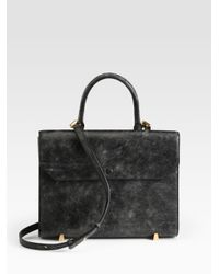 Alexander Wang Black Chastity Distressed Leather Shoulder Bag
