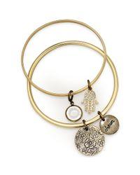 American Rag | Metallic Goldtone Dangling Charm Bangle Bracelets | Lyst