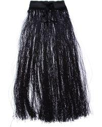 Ann Demeulemeester   Black Oversize Fringe Necklace   Lyst