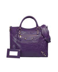 Balenciaga Purple Giant 12 Gold Velo Ultraviolet