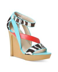 Calvin Klein Multicolor Dani Platform Wedge Sandals