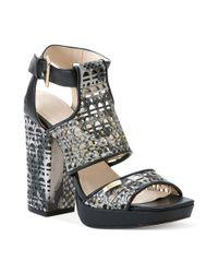 Calvin Klein Gray Vallin Platform City Sandals