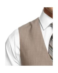 Calvin Klein Brown Tan Shark-skin Vested Slim Fit for men