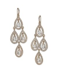 Carolee | Metallic Pear Glass Chandelier Earrings | Lyst