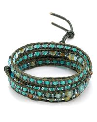 Chan Luu - Blue Five Wrap Aqua Mix Bracelet - Lyst