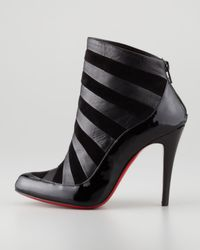 Christian Louboutin Amor Patent-suede Bootie Black