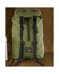 Denim & Supply Ralph Lauren Green Essential Wax Nylon Rucksack for men