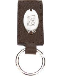 Fendi Brown Selleria Key Ring for men