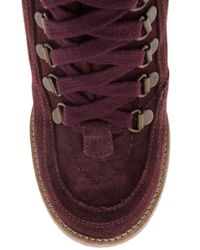 Ganni Brown Wedge Ankle Lace Up Boot with Razer Edge Sole