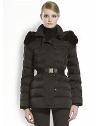 Gucci Black Furtrimmed Hooded Puffer Jacket