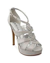 Guess Metallic Kaleny Platform Sandals