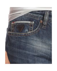 Guess Blue Desmond Relaxed Fit Straight Leg Jeans for men