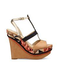 Guess Multicolor Diastol Platform Wedge Sandals