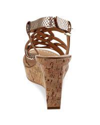 Guess White Yarkena Platform Wedge Sandals