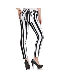 Guess Black Jeans Skinny Striped