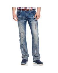 INC International Concepts - Blue Cecil Slim Fit Bootcut Jeans for Men - Lyst