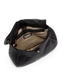 Jimmy Choo Black Becka Small Biker Shoulder Bag