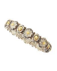 Konstantino | Metallic Iris Small Crystal Flower Bracelet | Lyst