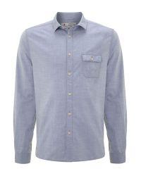 Label Lab Heddon Logo Carrier Blue Shirt for men