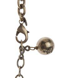 Lanvin - Metallic Happy Pendant Necklace - Lyst