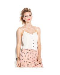M.a.d.e - White Made Fashion Week For Impulse Top Sleeveless Vneck Pindot Tank - Lyst