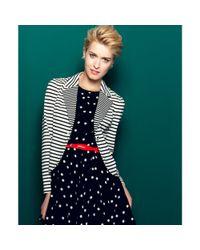 Maison Jules - Black Longsleeve Striped Blazer - Lyst