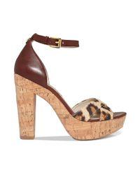 Michael Kors Red Camilla Platform Sandals