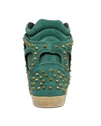 Modern Vice - Green Cannes Wedge Sneakers - Lyst