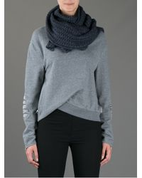 Moncler Gray Chunky Knit Scarf
